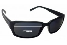 Sunglass Fix Sunglass Replacement Lenses for Fat Head Jaxon FH-V124 - 67mm Wide