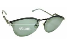 Sunglass Fix Sunglass Replacement Lenses for Fendi FF 0040/S - 60mm Wide