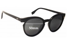 Sunglass Fix Sunglass Replacement Lenses for Fendi FF 0127 - 50mm Wide