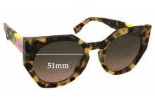 Sunglass Fix Sunglass Replacement Lenses for Fendi FF 0151/S - 51mm Wide