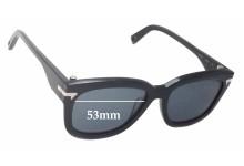Sunglass Fix Sunglass Replacement Lenses for G-Star Raw GS602S Wayfarer - 53mm Wide