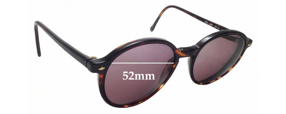 a130451cffa4 Sunglass Fix Sunglass Replacement Lenses for Giorgio Armani 325 - 52mm wide