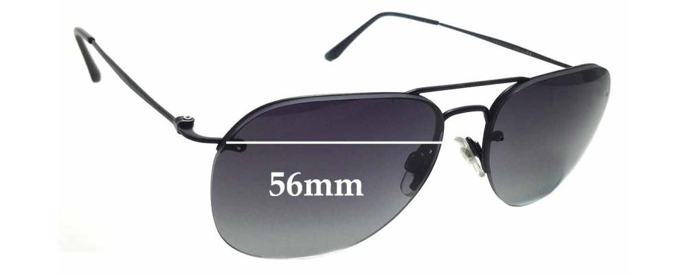 22913c28c5dc Sunglass Fix Sunglass Replacement Lenses for Giorgio Armani AR6004 - 56mm  wide