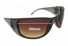 Sunglass Fix Sunglass Replacement Lenses for Givenchy SGV546 - 68mm Wide