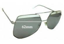 Sunglass Fix Sunglass Replacement Lenses for Grey Ant Hexcel - 62mm Wide