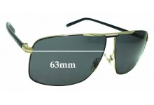 Sunglass Fix Sunglass Replacement Lenses for Gucci GG 2214/K/S - 63mm Wide