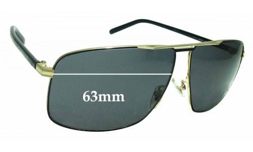 Sunglass Fix Sunglass Replacement Lenses for Gucci 2214/K/S - 63mm wide