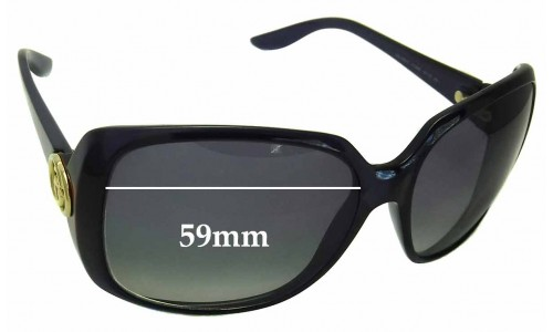 Sunglass Fix Sunglass Replacement Lenses for Gucci 3166 - 59mm Wide