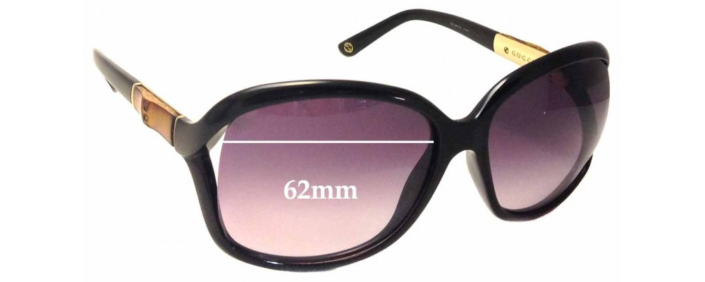 Sunglass Fix Sunglass Replacement Lenses for Gucci GG 3671/S - 62mm Wide