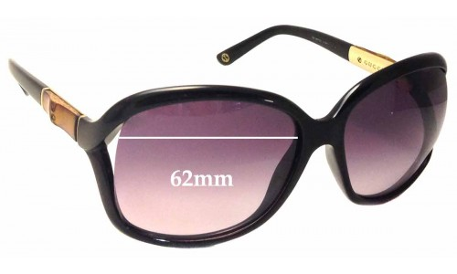 Sunglass Fix Sunglass Replacement Lenses for Gucci 3671/S - 62mm wide