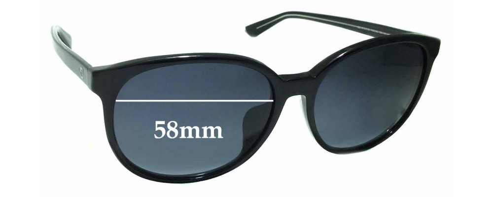 Sunglass Fix Replacement Lenses for Gucci GG3733/F/S - 58mm Wide