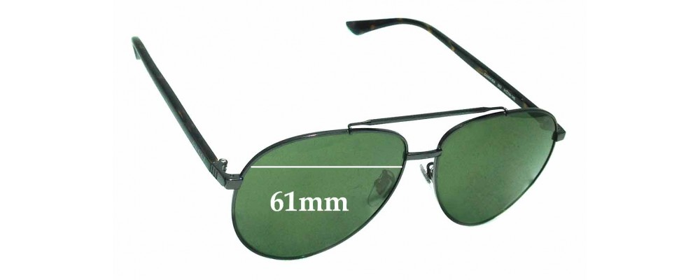 Sunglass Fix Sunglass Replacement Lenses for Gucci GG 0043SA - 61mm Wide