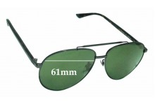 Sunglass Fix Replacement Lenses for Gucci GG0043SA - 61mm Wide