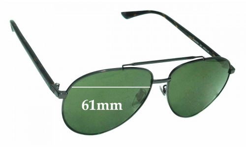 Sunglass Fix Sunglass Replacement Lenses for Gucci GG 0043SA - 61mm Wide