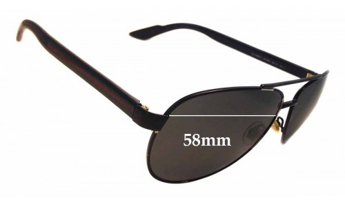 Sunglass Fix Sunglass Replacement Lenses for Gucci GG 2898/S - 58mm wide