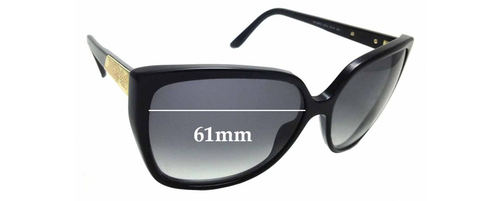 Sunglass Fix Replacement Lenses for Gucci GG3180/S - 61mm Wide