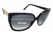 Sunglass Fix Sunglass Replacement Lenses for Gucci GG 3180/S - 61mm Wide