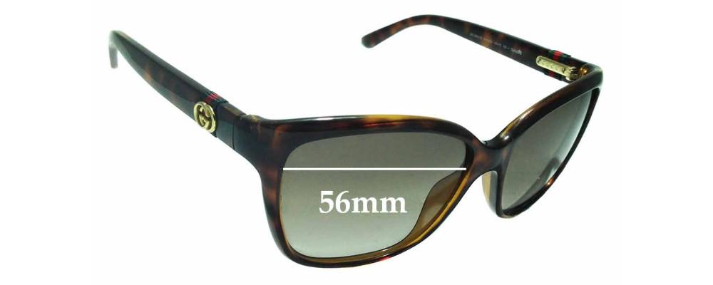 ede392086d Sunglass Fix Sunglass Replacement Lenses for Gucci GG3645 S - 56mm Wide
