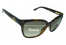 Sunglass Fix Sunglass Replacement Lenses for Gucci GG3645/S - 56mm Wide