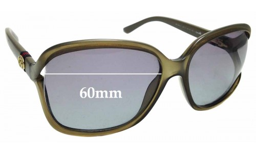 Sunglass Fix Sunglass Replacement Lenses for Gucci GG 3646/S - 60mm Wide