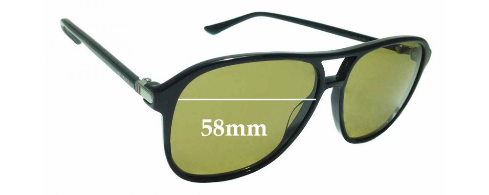 Sunglass Fix Sunglass Replacement Lenses for Gucci GG 0016/S - 58mm Wide