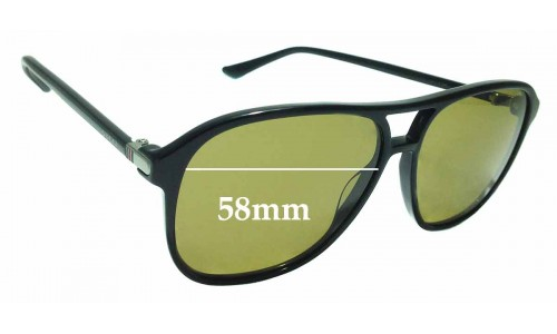 Sunglass Fix Sunglass Replacement Lenses for Gucci GG 0016S - 58mm wide