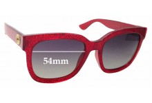 Sunglass Fix Sunglass Replacement Lenses for Gucci GG 0034/S - 54mm Wide