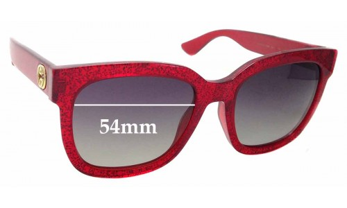 Sunglass Fix Sunglass Replacement Lenses for Gucci GG0034S - 54mm wide