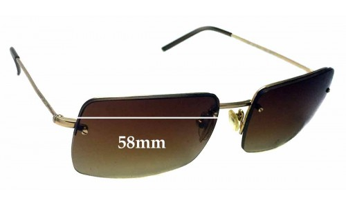 Sunglass Fix Sunglass Replacement Lenses for Gucci GG 1653/S - 58mm wide