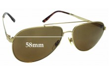 Sunglass Fix Sunglass Replacement Lenses for Gucci GG 1912/S - 58mm Wide
