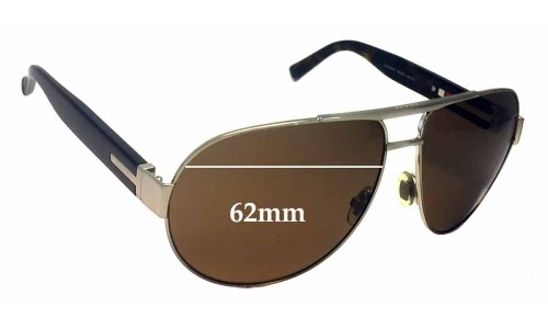 Sunglass Fix Sunglass Replacement Lenses for Gucci GG1924/S - 62mm Wide