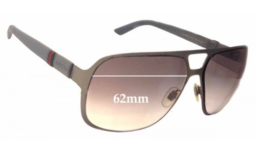 Sunglass Fix Sunglass Replacement Lenses for Gucci GG2253/S - 62mm Wide