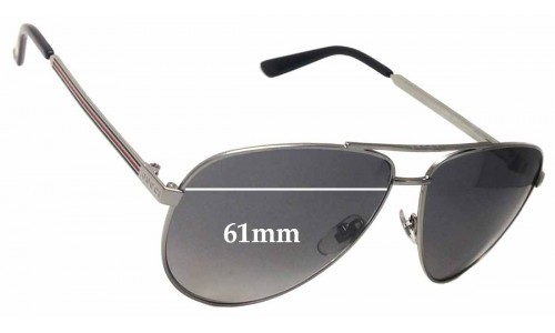 Sunglass Fix Sunglass Replacement Lenses for Gucci GG2281/S - 61mm Wide
