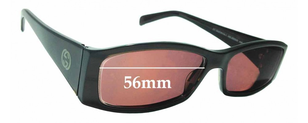 Sunglass Fix Sunglass Replacement Lenses for Gucci GG2523/S - 56mm Wide