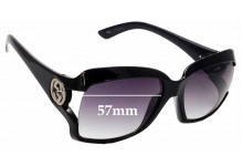 Sunglass Fix Sunglass Replacement Lenses for Gucci GG2598/S - 57mm Wide