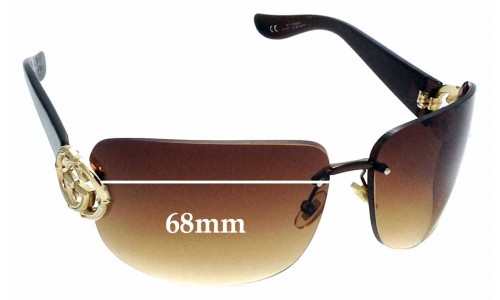 Sunglass Fix Sunglass Replacement Lenses for Gucci GG2833/S - 68mm wide