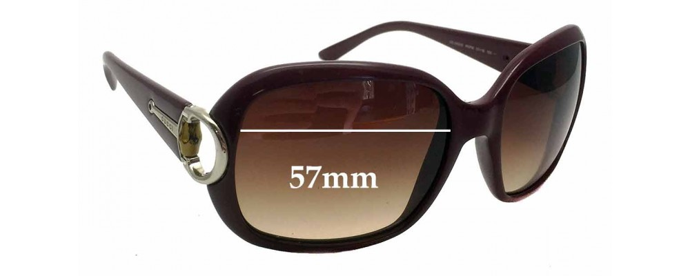 Sunglass Fix Sunglass Replacement Lenses for Gucci GG 3132/S - 57mm Wide