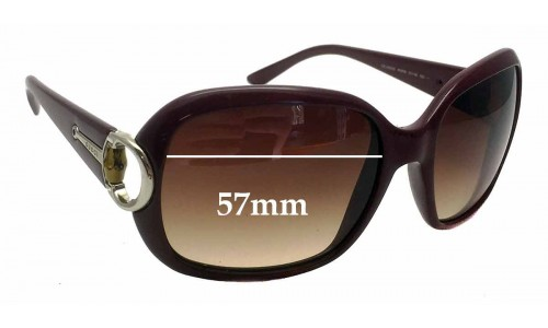 Sunglass Fix Sunglass Replacement Lenses for Gucci 3132/S - 57mm wide