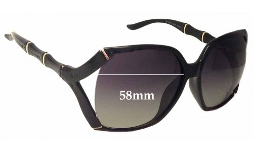 Sunglass Fix Sunglass Replacement Lenses for Gucci GG3508/S - 58mm Wide