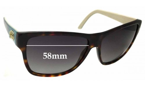 Sunglass Fix Sunglass Replacement Lenses for Gucci GG 3579/S - 58mm wide