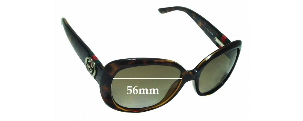 Sunglass Fix Sunglass Replacement Lenses for Gucci GG3644/S - 56mm Wide