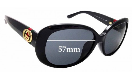 Sunglass Fix Sunglass Replacement Lenses for Gucci GG 3660/K/S - 57mm Wide