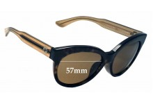 Sunglass Fix Sunglass Replacement Lenses for Gucci GG 3757/F/S - 57mm Wide