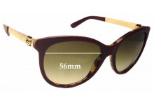 Sunglass Fix Sunglass Replacement Lenses for Gucci GG3784/S - 56mm Wide