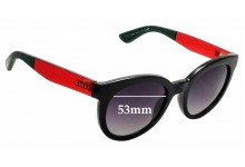 Sunglass Fix Sunglass Replacement Lenses for Gucci GG3810/S 53mm Wide