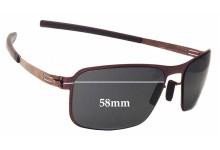 Sunglass Fix Sunglass Replacement Lenses for IC! Berlin Black Body - 58mm Wide