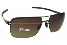 Sunglass Fix Sunglass Replacement Lenses for IC! Berlin Kjell - 57mm Wide