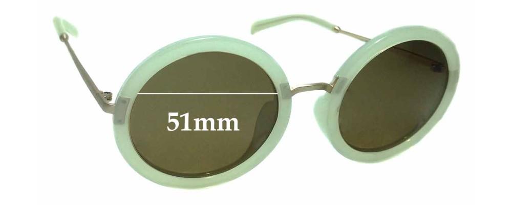 Sunglass Fix Sunglass Replacement Lenses for Jins 1045 - 51mm Wide