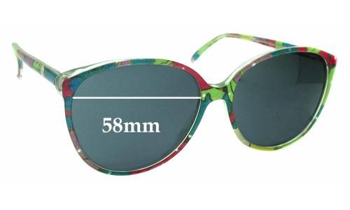 Sunglass Fix Sunglass Replacement Lenses for Jonathan Sceats Vintage - 58mm Wide