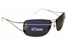 Sunglass Fix Sunglass Replacement Lenses for Juicy Couture So Free/S -  67mm Wide
